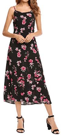 Amazon : Women Sleeveless Floral Print V Neck Backless Chiffon Maxi Dress Just $9.89 W/Code (Reg : $32.99) (As of 4/20/2019 11.09 AM CDT)