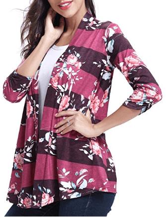 Amazon : Women Shirts Floral Print Beach Boho Cardigan Just $8.49 W/Code (Reg : $17.88) (As of 4/20/2019 5.31 PM CDT)