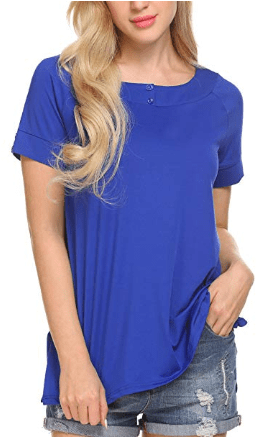 Amazon : Women's Short Sleeve Loose Fit Flowy Basic T-Shirt Just $6.30 W/Code (Reg : $20.99) (As of 4/22/2019 9.33 AM CDT)