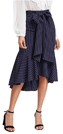 Amazon : Women's Self Tie Flounce Trim Wrap Skirt Just $5.06 W/Code (Reg : $22.99) (As of 4/22/2019 9.53 AM CDT)
