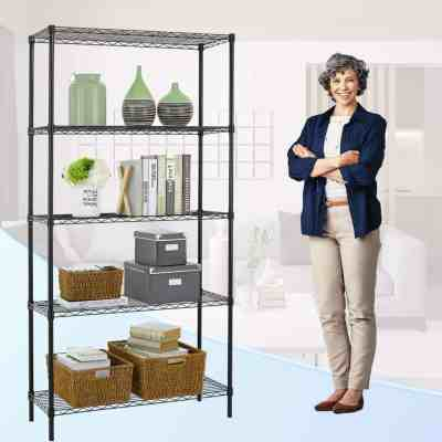 Amazon : 5-Shelf Shelving Unit Multifunction Changeable Assembly Floor Standing Carbon Steel Storage Rack Just $39.96 W/Code (Reg : $133.19) (As of 4/18/2019 9.22 AM CDT)