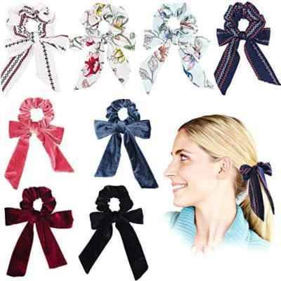 Amazon : 8Pcs Bowknot Hair Scrunchies Just $5.99 W/Code (Reg : $11.99) (As of 4/08/2019 10.05 PM CDT)
