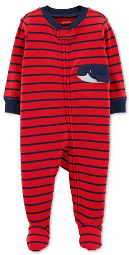 Macy's : Baby Boys Whale Graphic Striped Footed Cotton Pajamas Just $4.99 (Reg : $16)