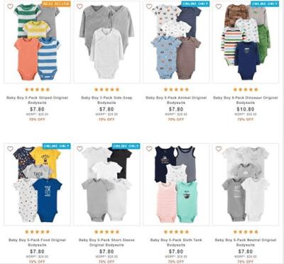 Carter's : ‼️ SALE ‼️$7.80 (Reg : $26) Carter's Baby Boys Bodysuits Packs!!