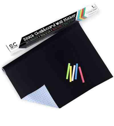 Amazon : Chalkboard Stickers & Blackboard Paper with 5 Colored Chalks Just $5.40 W/Code (Reg : 17.99) (As of 4/23/2019 8.57 PM CDT)