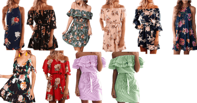 Amazon : Women's Off The Shoulder Floral Printed Dress Just $8.99 W/Code (Reg : $17.99) (As of 4/20/2019 12.51 PM CDT)