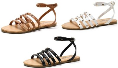 Amazon : Flat Sandals with Round Rivets and Adjustable Buckle Just $7.64 W/Code + 30% off coupon (Reg : $16.99) (As of 4/20/2019 3.31 PM CDT)