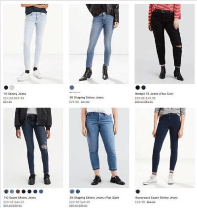 Levi's : Women's Jean Just AS LOW AS $17.49 W/Code!!