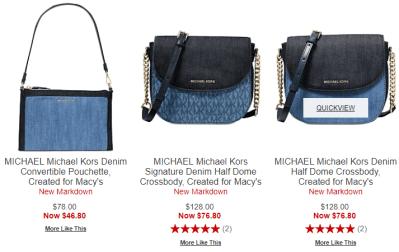 Macy's : Michael Kors Handbag SALE‼ AS LOW AS $46.80 !!