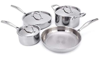 Amazon : Stainless Steel Cookware Set, 7-Piece Just $44.99 W/Code (Reg : $89.99) (As of 4/18/2019 2.06 PM CDT)