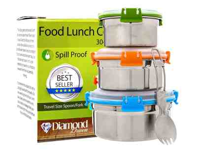 Amazon : Stainless Steel Lunch Box (Set of 3) Just $14.95 (Reg : $49.95) (As of 4/20/2019 11.05 AM CDT)