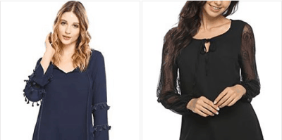 Amazon : Women's Vintage Lace up Bell Long Sleeve Chiffon Blouse Boho Tops Just $7.50 - $9 W/Code (Reg : $39.98) (As of 4/20/2019 12.02 PM CDT)