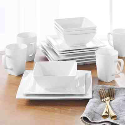 Walmart : 16 Piece Square Dinnerware Set, White Just $39.99 (Reg : $49.99)