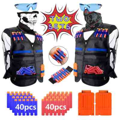 Amazon : 2 Pack Kids Tactical Vest Kit for Nerf Guns N-Strike Elite Series with 80Pcs Refill Darts Just $15.59 W/Code (Reg : $25.99) (As of 5/24/2019 2.37 PM CDT)