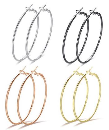 Amazon : Big Hoop Earrings for Women Just $6 W/Code (Reg : $9.58) (As of 5/20/2019 4.02 PM CDT)
