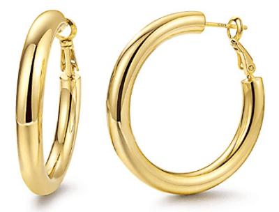 Amazon : Hoop Earrings 24K Gold Plated Just $4.95 W/Code (Reg : $15.99) (As of 5/20/2019 9.17 PM CDT)