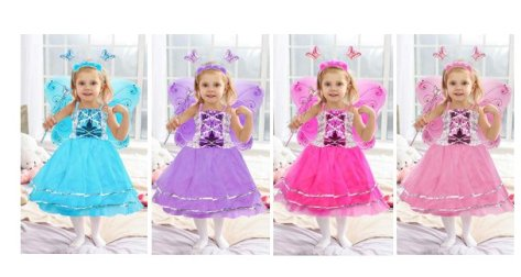 72432562a48d7 Amazon : Girls Dress Up Princess Fairy Costume Set Just $11.49 W/Code (Reg  : $22.99) (As of 5/05/2019 8.28 PM CDT)