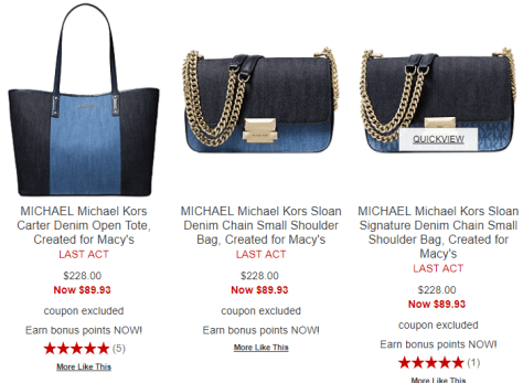 29a49966b08e Deals Finders | Macy's : 𝐌𝐢𝐜𝐡𝐚𝐞𝐥 𝐊𝐨𝐫𝐬 𝐒𝐀𝐋𝐄‼ Just From ...