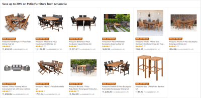 Amazon : Save on Patio Furniture from Amazonia Starting as low as $139.84 (As of 5/24/2019 10.15 AM CDT)