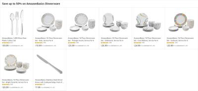 Amazon : Save up to 50% on AmazonBasics Dinnerware Just $7.99 - $39.99 (Reg : $14.99 - $73.96)(As of 5/24/2019 10.24 AM CDT)