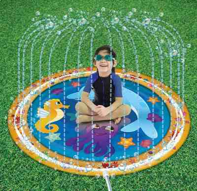 Amazon : Sprinkle & Splash Play Mat Just $13.95 (As of 5/24/2019 2.17 PM CDT)