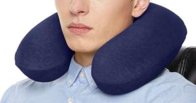 AmazonBasics Memory Foam Neck Pillow Just $4.99 (Regularly $11)