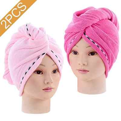 Amazon : 2PCS Absorbent Quickly Dry Hair Hat Just $3.99 (As of 6/17/2019 5.51 PM CDT)
