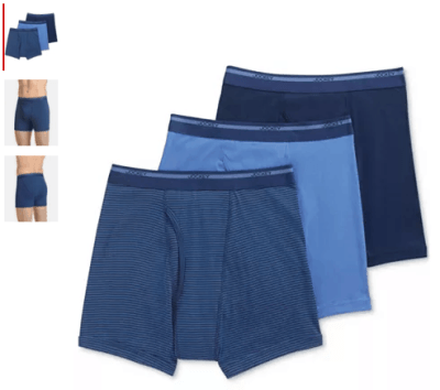 Macy's : Jockey Men's Classic 3 Pack Cotton Boxer Briefs Just $9.93 (Reg : $26)
