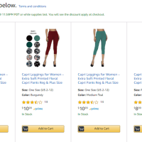 Amazon : Capri Leggings for Women Just $4.49-5.99 W/Code (Reg : $11.99) (As of 6/17/2019 10.22 AM CDT)