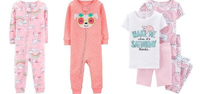 CUTE! 60% Off Carter's Jammies – Starting at JUST $8 (Regularly $20) + FREE Shipping