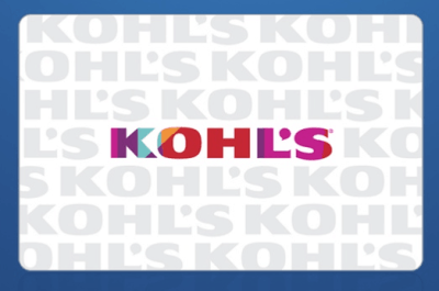 $20 Kohl's Gift Card Just $10 only