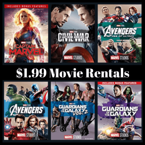 Amazon: Select Marvel Movie Rentals ONLY $1.99 Each *Iron Man, Thor, and More**
