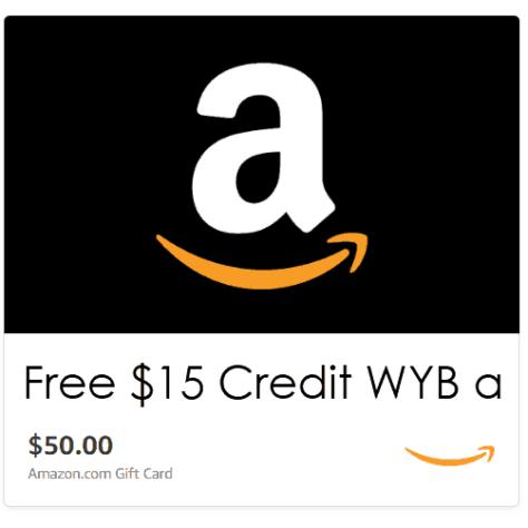 Free $15 Amazon Credit w/$50 Amazon Gift Card Purchase *HOT*