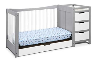 Amazon : PRIME DAY DEAL 4-in-1 Convertible Crib and Changer, Pebble Gray/White Just $319 W/20% Off At Checkout (Reg : $399) (As of 7/16/2019 5.42 PM CDT)