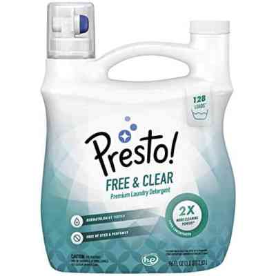 Amazon : Amazon Brand - Presto! Concentrated Liquid Laundry Detergent, Free & Clear, 128 Loads, 96 Fl Oz Just $14.29 W/30% Off Coupon (Reg : $20.42) (As of 7/20/2019 4.20 PM CDT)
