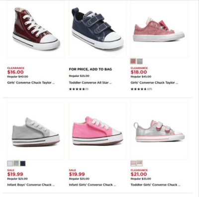 Kohl's : Converse Kids Shoes Just As Low As $16 (Reg : $35)
