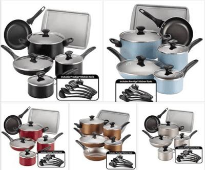 Kohl's : Farberware 15-pc. Nonstick Aluminum Cookware Set Just $40.99 (Reg $119.99) W/Code + $10 Mail- In Rebate