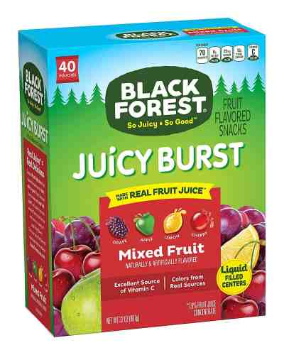 Amazon : Fruit Snacks Juicy Bursts, Mixed Fruit, 0.8-Ounce Bag (Pack of 40) Just $5.96 (Reg : $8.99) (As of 7/23/2019 10.49 PM CDT)