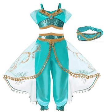Amazon : Girls Princess Jasmine Dress with Headband Just $15.88 - $18.88 W/Code (Reg : $47.20) (As of 7/23/2019 3.34 PM CDT)