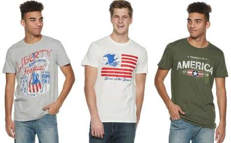 Men's Americana Graphic Tees ONLY $3.50 Each + FREE Shipping (Regularly $10)