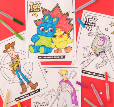 FREE Toy Story 4 Printable Coloring & Activity Pages