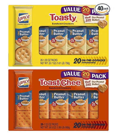 20% Off on Lance Toasty and Toastchee Assorted Sandwich Crackers, 40 Count