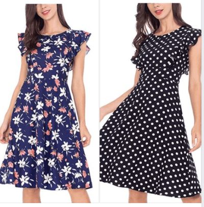 Ruffle Sleeve Dress for Women for $11.20 w/code