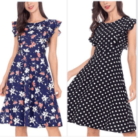 Ruffle Sleeve Dress for Women for $11.20 w/code
