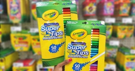 Crayola Super Tips Washable Markers 80-Count