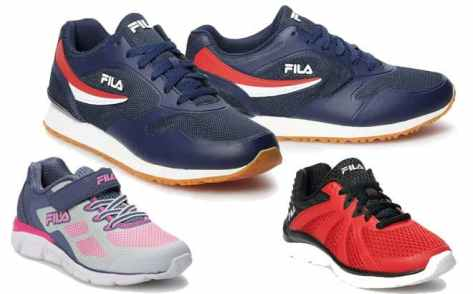 FILA Shoes & Slides for Entire Family Starting at ONLY $17 + FREE Shipping (Reg $60)