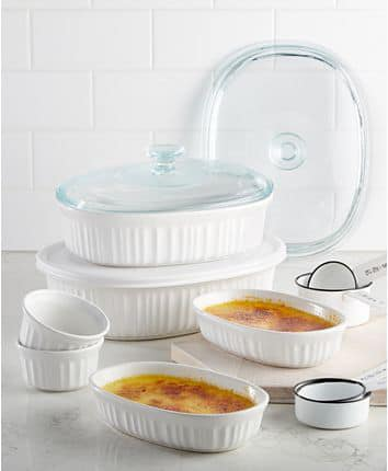 French White 10-Pc. Bakeware Set, Created for Macy's for $29.99 (reg: $79.99)