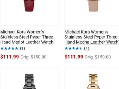 Michael Kors Watch starts from $111.99 (reg: $150+)