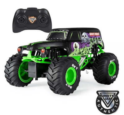 Monster Jam, Official Grave Digger Remote Control Truck 1:15 Scale, 2.4GHz for $6.97 (Reg $29.99)