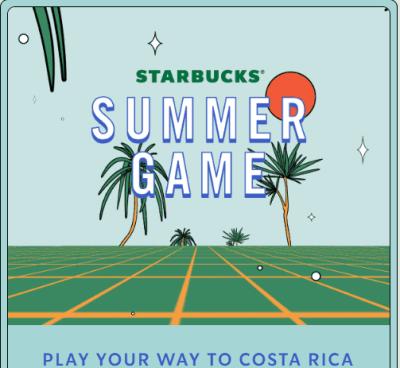 Starbucks Summer Instant Win Game (1 Million FREE Bonus Stars)